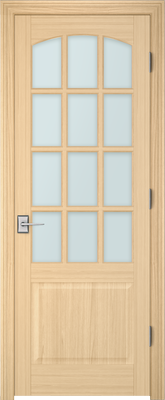 Image PBI 312AC Clear Glass Interior Door, finish Oak