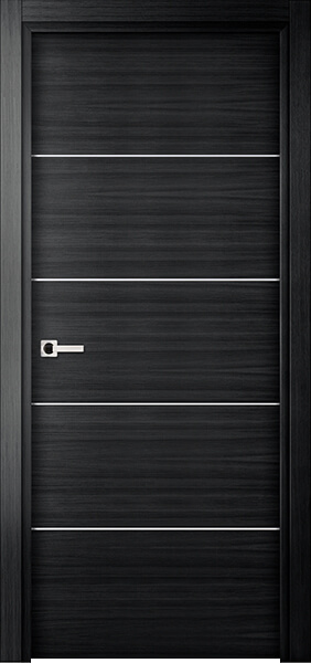 Image Elivia 4HS Interior Door, finish Black Oak