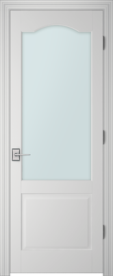 PBI 101AS Clear Glass Interior Door Primed