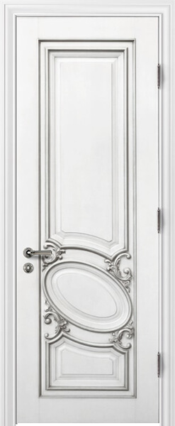 Image Luiza Interior Door, finish White with Silver Patina
