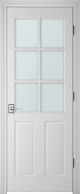 PBI 3060 Clear Glass Interior Door Primed