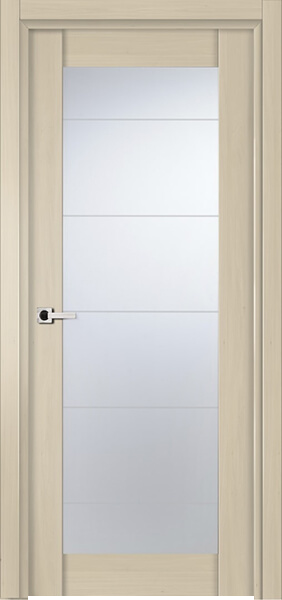 Image Infinity Glass Interior Door, finish White Alder