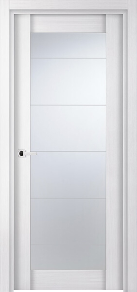 Image Infinity Glass Interior Door, finish White Oak