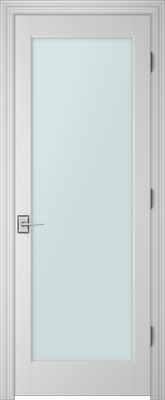 PBI 1000 Satin White Glass Interior Door Primed