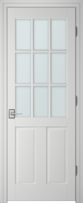 PBI 3090 Clear Glass Interior Door Primed