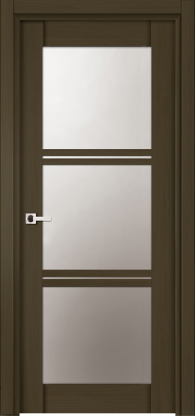 Image Emma La Luce Interior Door, finish Deep Dark Walnut
