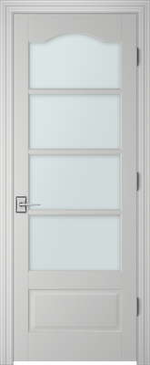 Image PBI 3040S Clear Glass Interior Door, finish Primed
