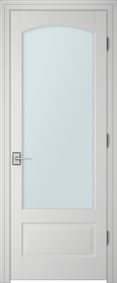 PBI 1010C Clear Glass Interior Door Primed