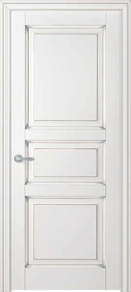 Image Royal Claudette Interior Door, finish White with Silver Patina