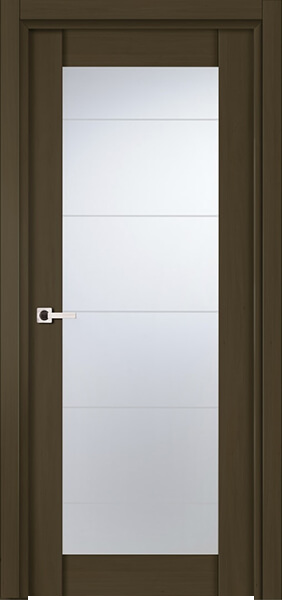 Image Infinity Glass Interior Door, finish Deep Dark Walnut