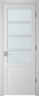 Image PBI 304A Clear Glass Interior Door, finish Primed