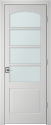 Image PBI 304AC Clear Glass Interior Door, finish Primed
