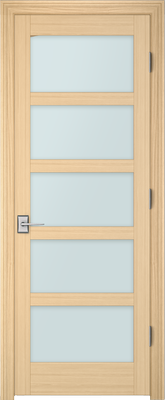 Image PBI 805L Clear Glass Interior Door, finish Oak