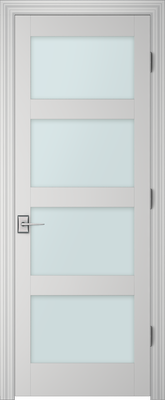 Image PBI 804H Clear Glass Interior Door, finish Primed