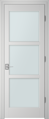 Image PBI 303L Clear Glass Interior Door, finish Primed