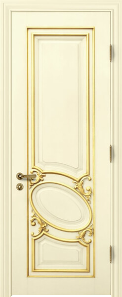 Image Luiza Interior Door, finish Ivory with Gold Patina
