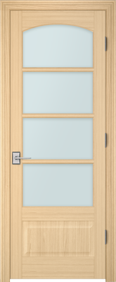 Image PBI 3040C Clear Glass Interior Door, finish Oak