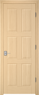Image PBI 206R Interior Door, finish Oak