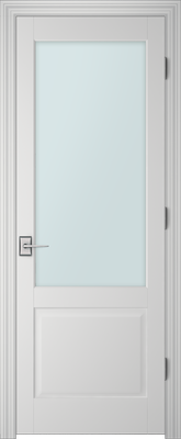 PBI 101A Satin White Glass Interior Door Primed