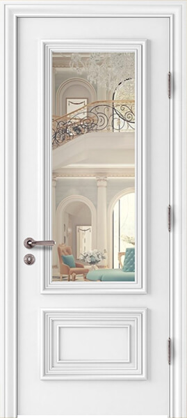 Image Palladio Due Clear Glass Interior Door, finish White