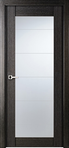 Image Infinity Glass Interior Door, finish Black Apricot