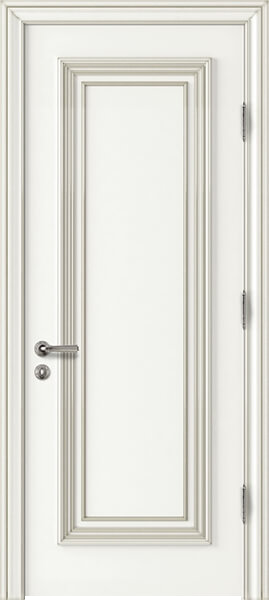Palladio Uno Interior Door White with Silver Patina