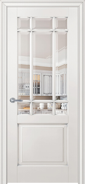 Image Royal Francette Interior Door, finish White with Silver Patina