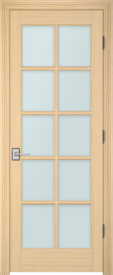 Image PBI 3100 Clear Glass Interior Door, finish Oak