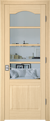 Image PBI 304AS Clear Glass Interior Door, finish Oak
