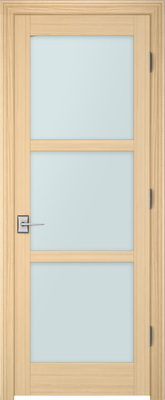 Image PBI 803L Clear Glass Interior Door, finish Oak