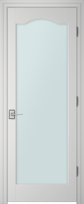 PBI 1000S Clear Glass Interior Door Primed