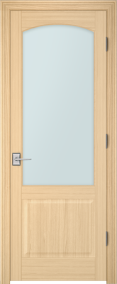 Image PBI 101AC Satin White Glass Interior Door, finish Oak