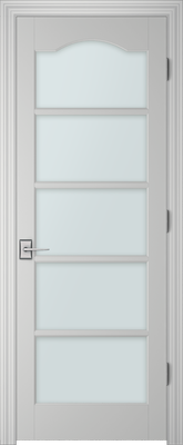 PBI 3050S Clear Glass Interior Door Primed
