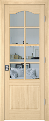 Image PBI 308AS Clear Glass Interior Door, finish Oak
