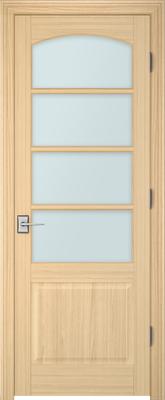 Image PBI 304AC Clear Glass Interior Door, finish Oak