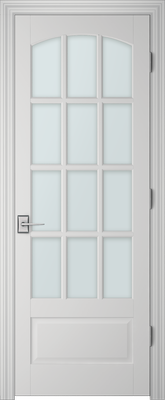 PBI 3120C Satin White Glass Interior Door Primed