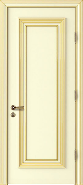 Image Palladio Uno Interior Door, finish Ivory with Gold Patina