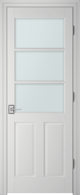 PBI 3030 Clear Glass Interior Door Primed