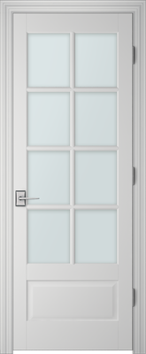 Image PBI 3080 Satin White Glass Interior Door, finish Primed