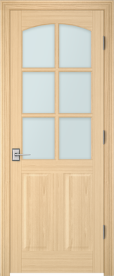 Image PBI 3060C Clear Glass Interior Door, finish Oak