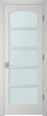 PBI 3050C Clear Glass Interior Door Primed