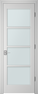 Image PBI 304M Clear Glass Interior Door, finish Primed