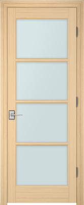 Image PBI 304M Clear Glass Interior Door, finish Oak