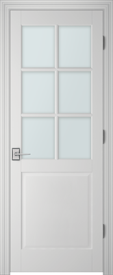 PBI 3067 Clear Glass Interior Door Primed