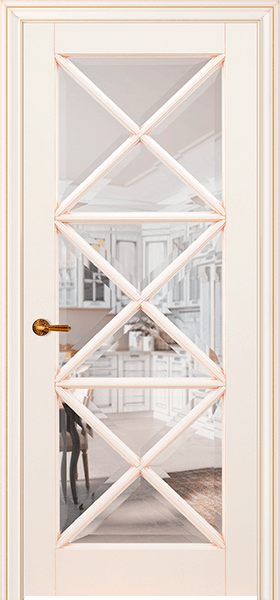 Image Royal Marie Interior Door, finish Ivory with Gold Patina