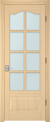 Image PBI 3080S Clear Glass Interior Door, finish Oak
