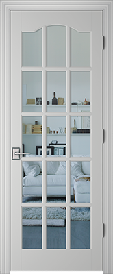 PBI 3150S Clear Glass Interior Door Primed
