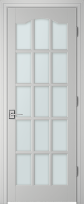 Image PBI 3150S Satin White Glass Interior Door, finish Primed