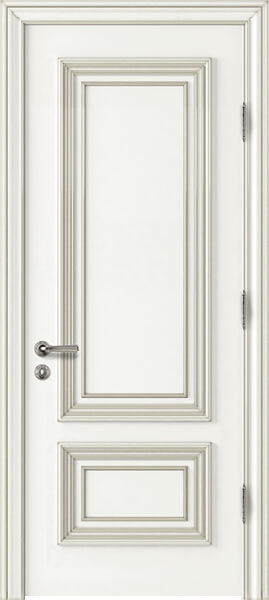 Palladio Due Interior Door White with Silver Patina