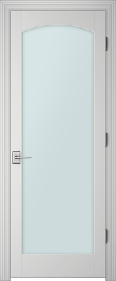 PBI 1000C Satin White Glass Interior Door Primed